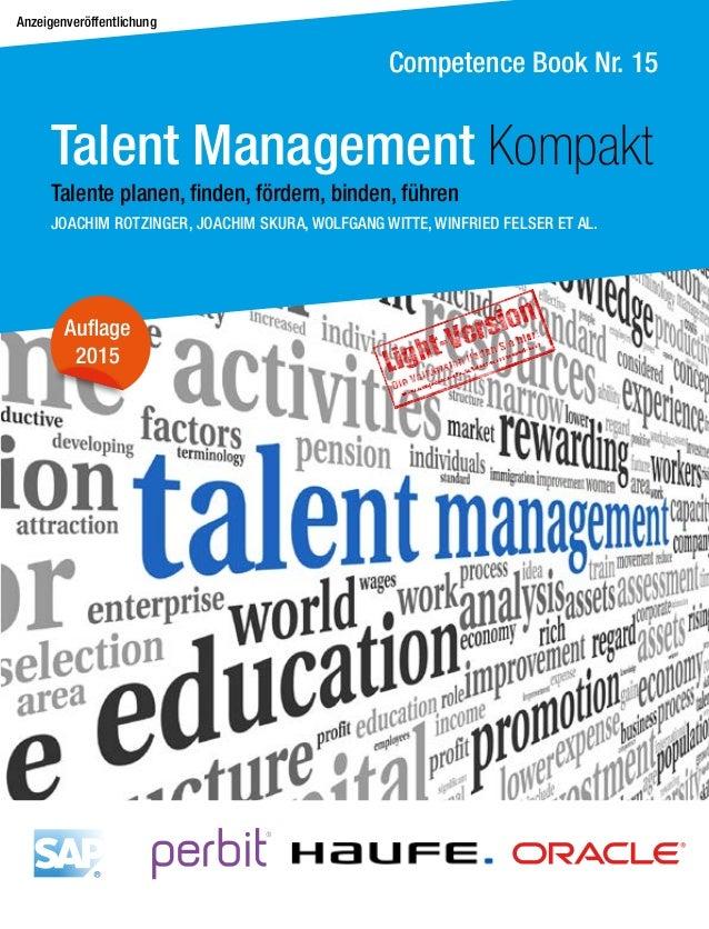 Anzeigenveröffentlichung Competence Book Nr. 15 Auflage 2015 JOACHIM ROTZINGER, JOACHIM SKURA, WOLFGANG WITTE, WINFRIED FE...