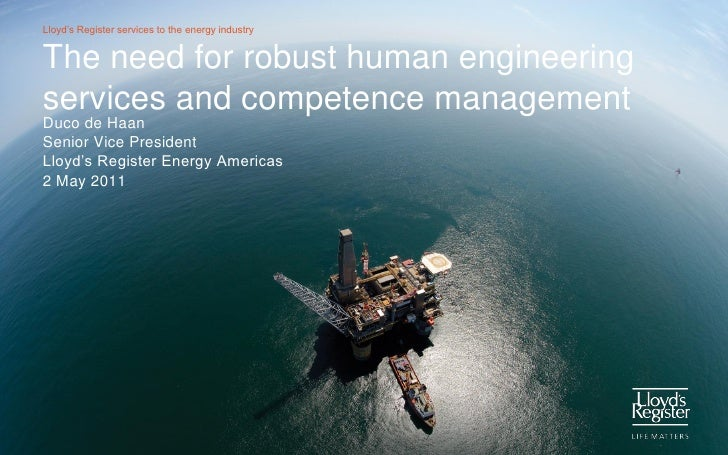 Competence management and human engineering services
