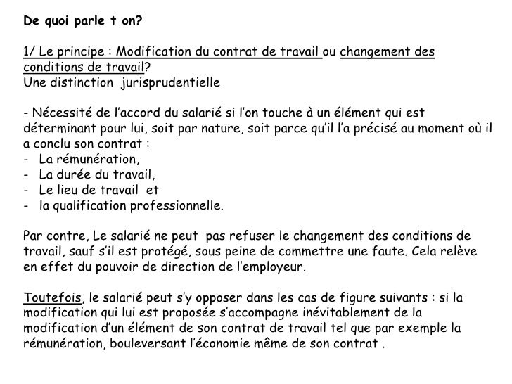 Dissertation modification du contrat de travail. creative writing
