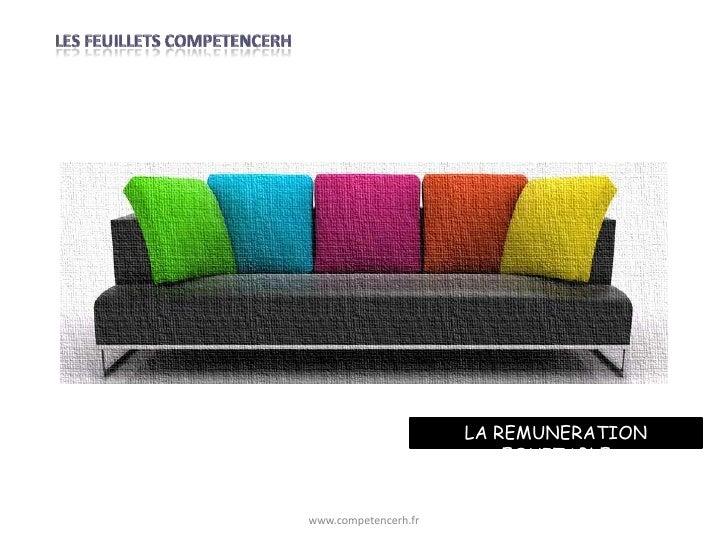 LA REMUNERATION                          EQUITABLEwww.competencerh.fr