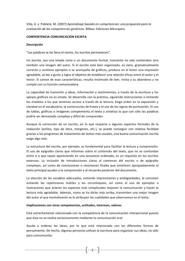 PROFORDEMS Competencia comunicación escrita