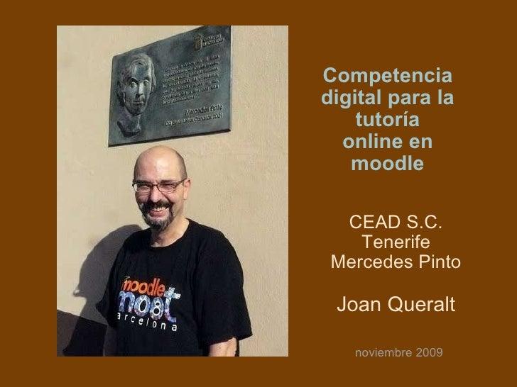Competencia digital para la tutoría online en moodle