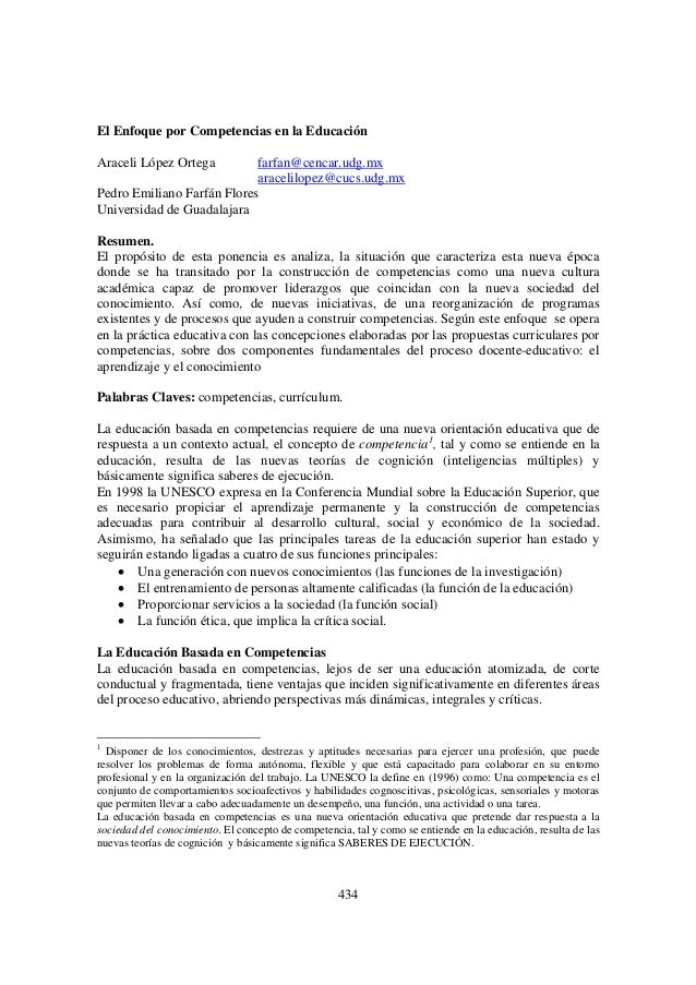 434El Enfoque por Competencias en la EducaciónAraceli López Ortega farfan@cencar.udg.mxaracelilopez@cucs.udg.mxPedro Emili...