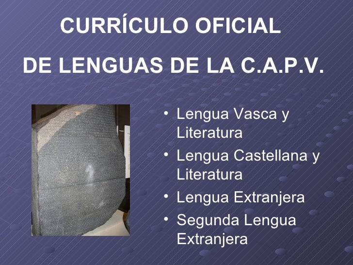 Competencias curriculares lingüísticas Secundaria