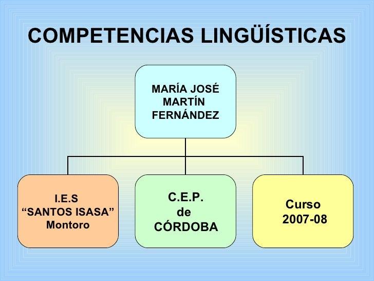 competencias ling u00fc u00edsticas