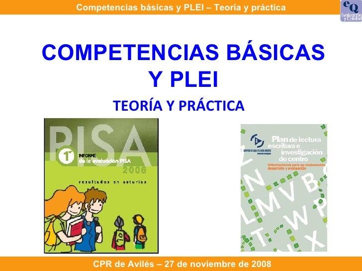 COMPETENCIAS BÁSICAS Y PLEI TEORÍA Y PRÁCTICA