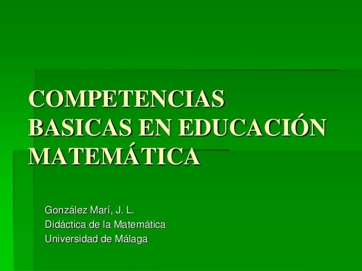 Competencias basicas en_educacion_matematica