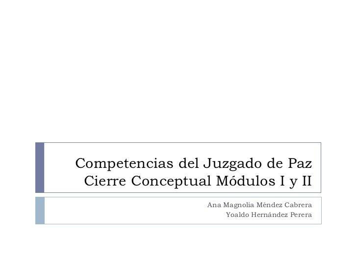 Competencias del juzgado de paz