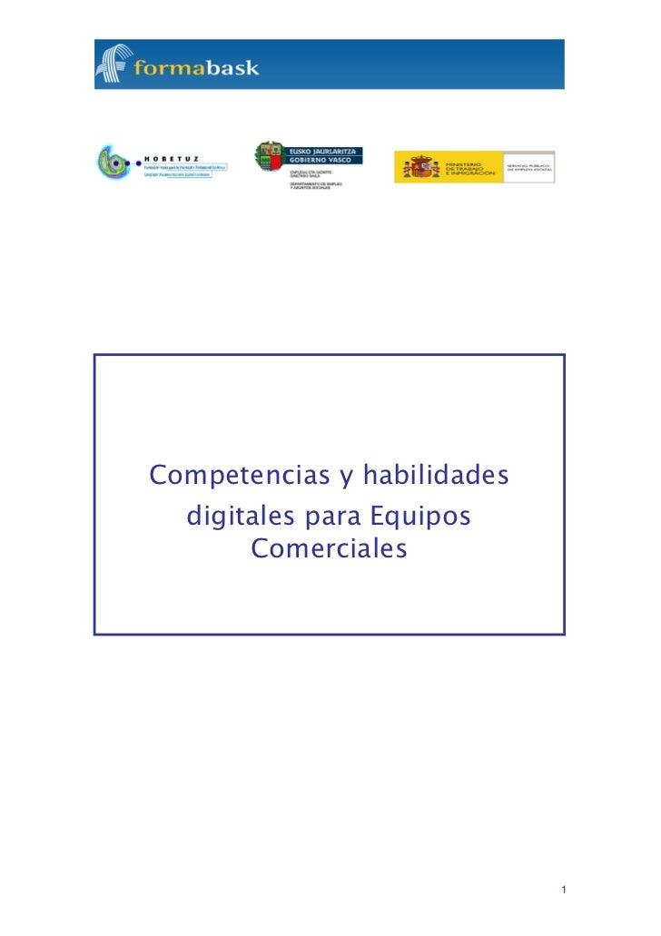 Competencias y habilidades  digitales para Equipos       Comerciales                             1