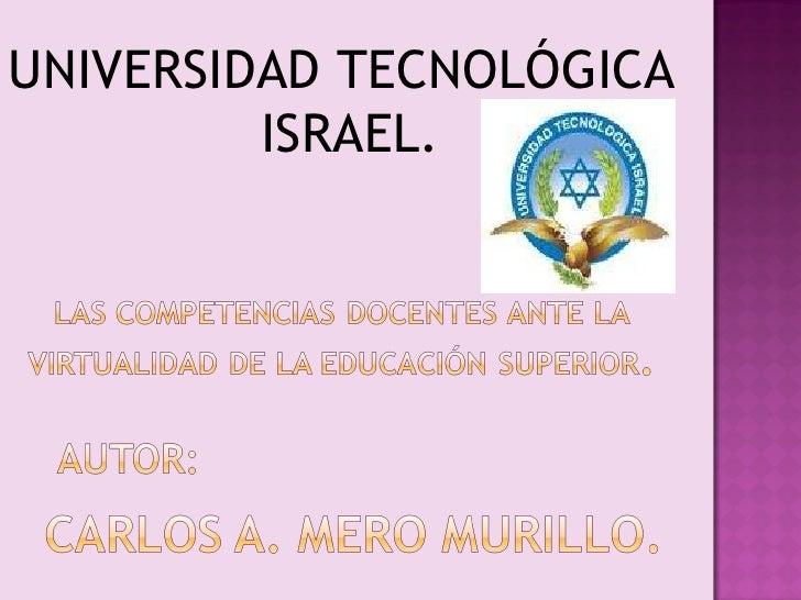 UNIVERSIDAD TECNOLÓGICA  ISRAEL.