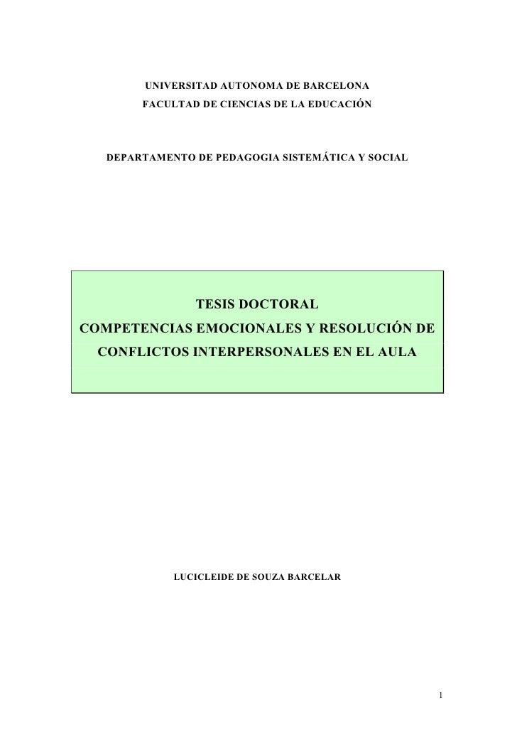 Competencias emocionales y resolución de conflictos interpersonales