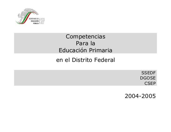 Competencias para la educación primaria
