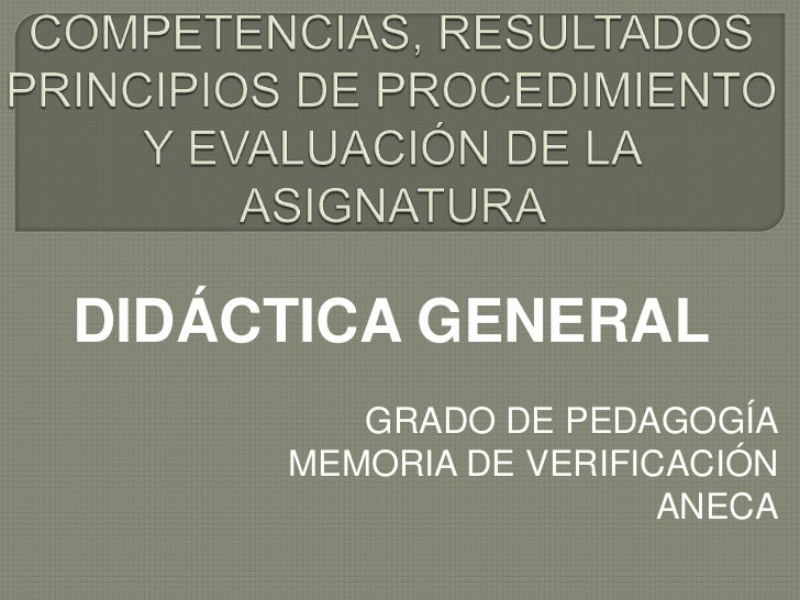 Competencias pedagogía
