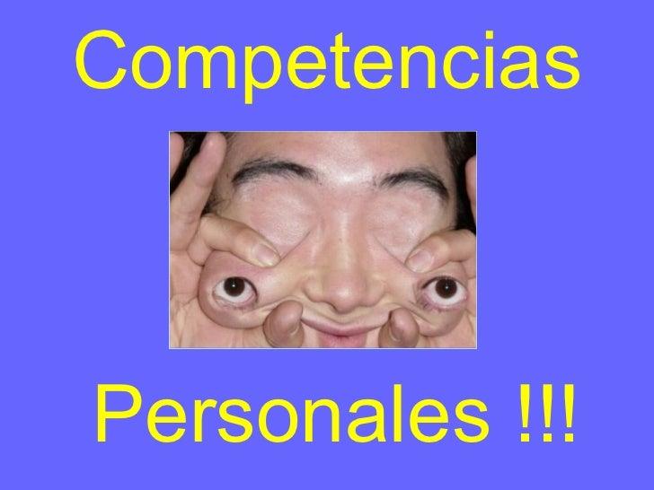 Competencias Personales !!!