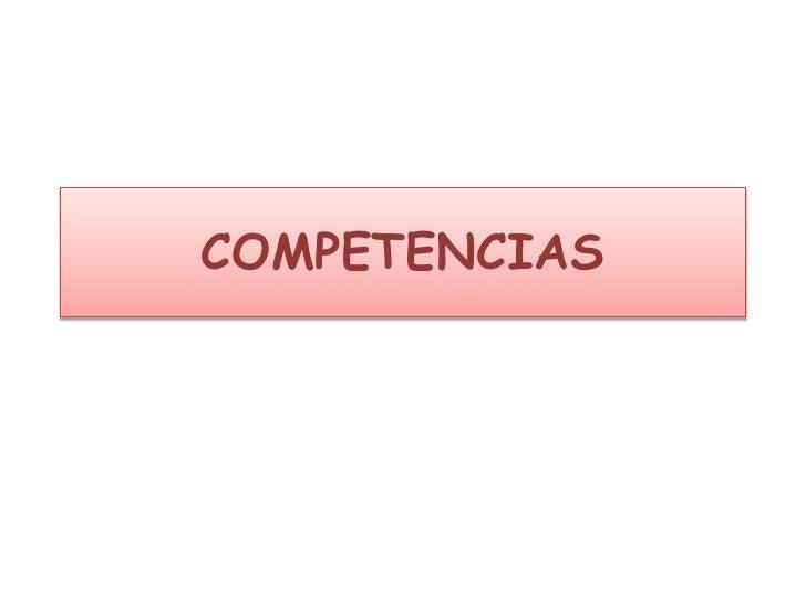 COMPETENCIAS<br />