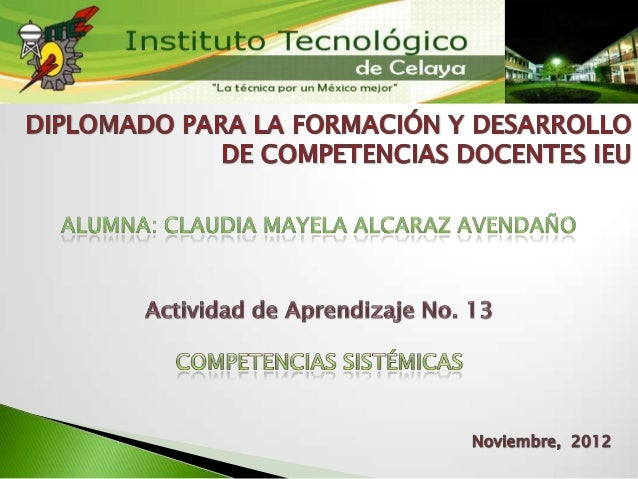 Claudia Alcaraz Competencias Sistémicas