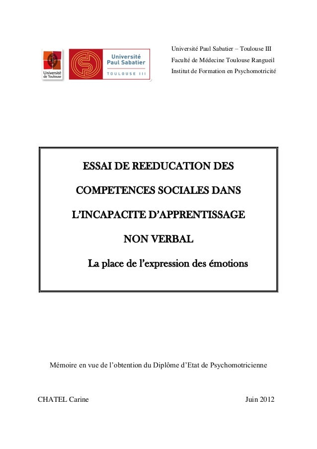 Competencias sociales y diagnosticos. francés.