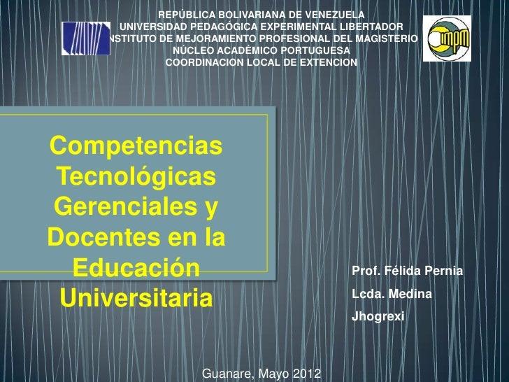 Competencias tecnologicas