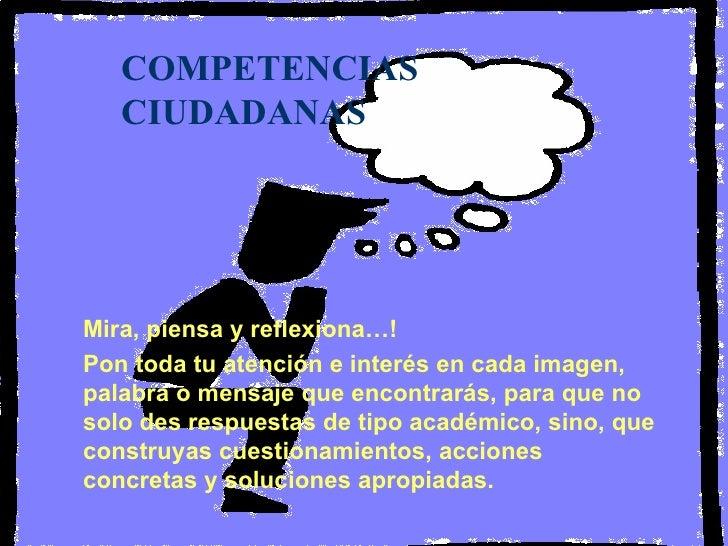 Competencias Y Formacion Ciudadana