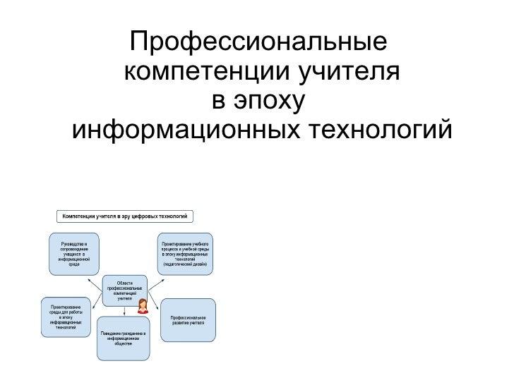 Teacher's competencies
