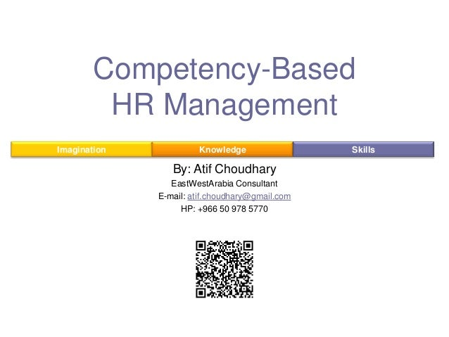 Competency-Based HR Management Imagination  Knowledge  By: Atif Choudhary EastWestArabia Consultant E-mail: atif.choudhary...