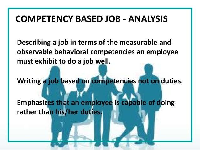 Competencies Job Analysis  Essay Sample  Ruassignmentrguvevanyatesme Competencies Job Analysis
