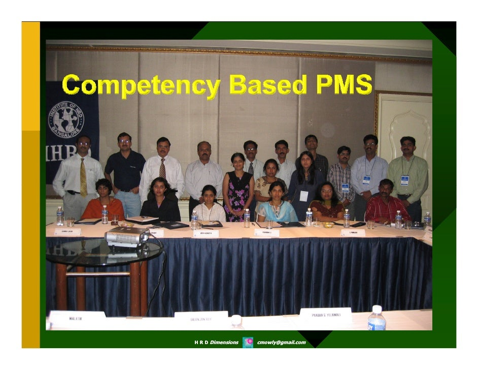 Competency Based Pms   Some Workshop Slides  Chandramowly   Copy