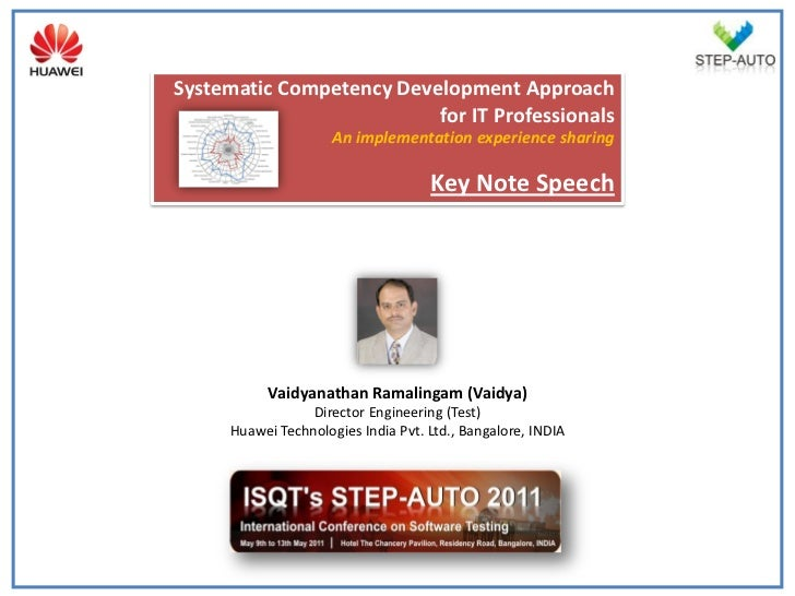 Competency Development For Testers Vaidyanathan Ramalingam
