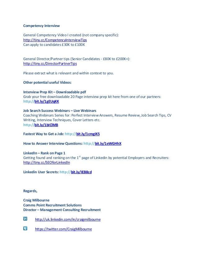 Competency Interview Tips: Interview Prep Kit: http://bit.ly/1gEUqKK