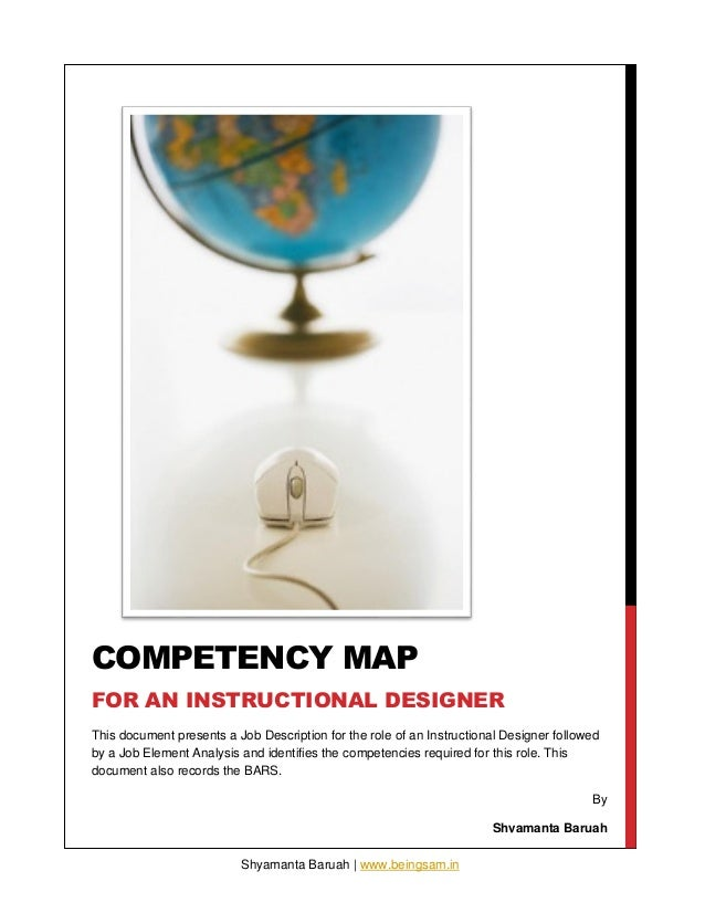 Competency map for an instructional designer