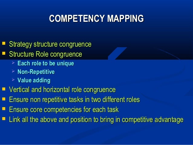 thesis on competency mapping A capability model frames performance as the  but a little bit of tweaking should give you a basic roadmap to follow during your competency mapping .