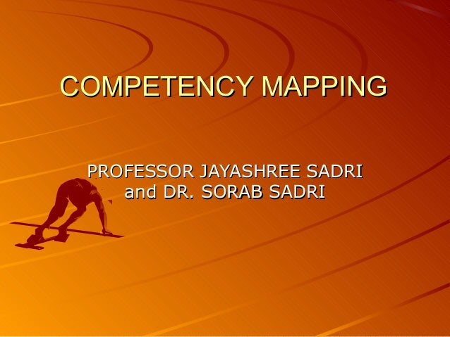 Competency mapping for HR