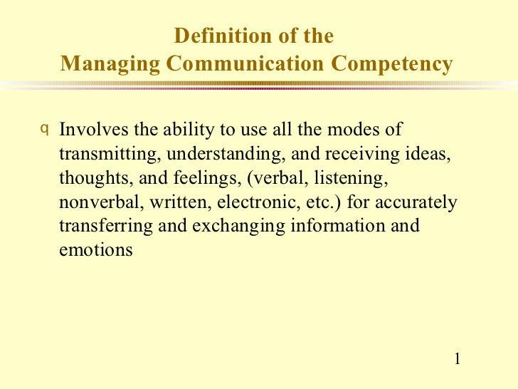 Competency (quiz on 11.05.2011)