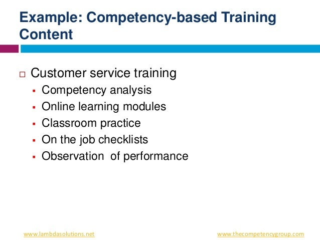 the fundamentals of competency training