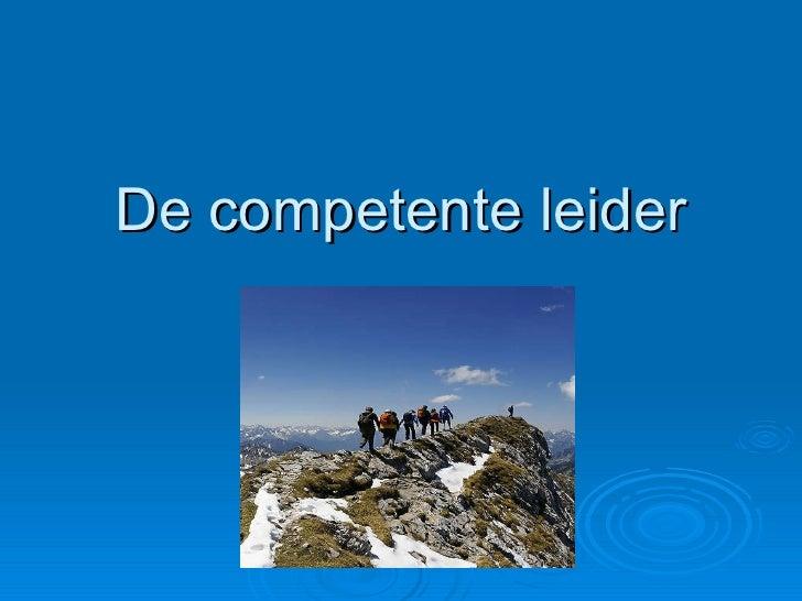 De competente leider