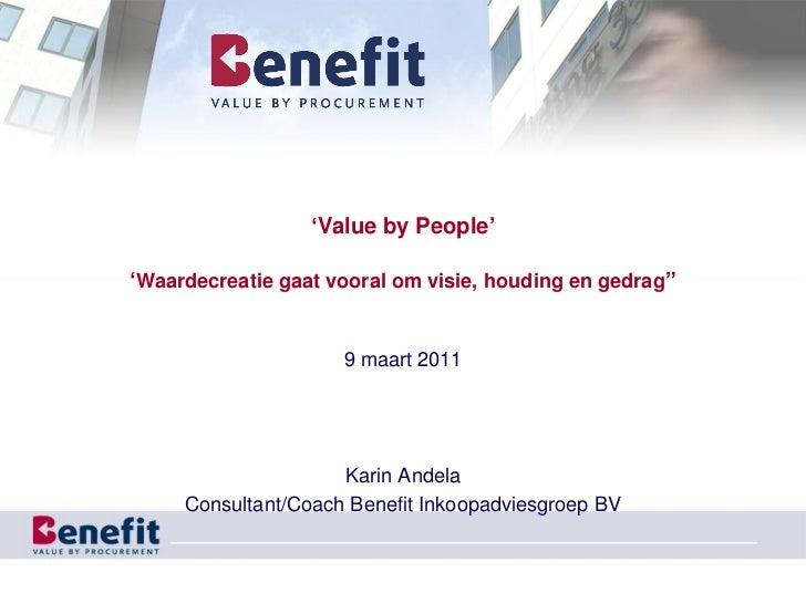 Competenties Voor Waardecreatie Nevi No 09032011 Benefit Karin Andela