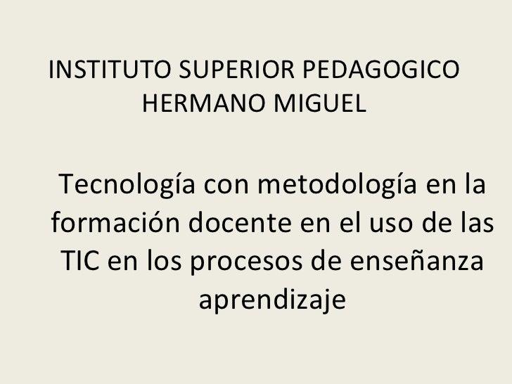 formación docente en el uso de las TIC