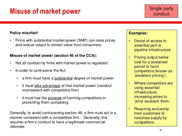 examples of market power Monopoly power: definition, sources & abuse in the business world, monopoly power happens when there is only one seller in a market for example.