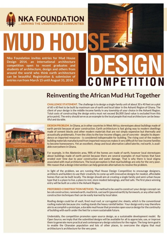 2014 MUD HOUSE DESIGN COMPETITION: Competition Brief