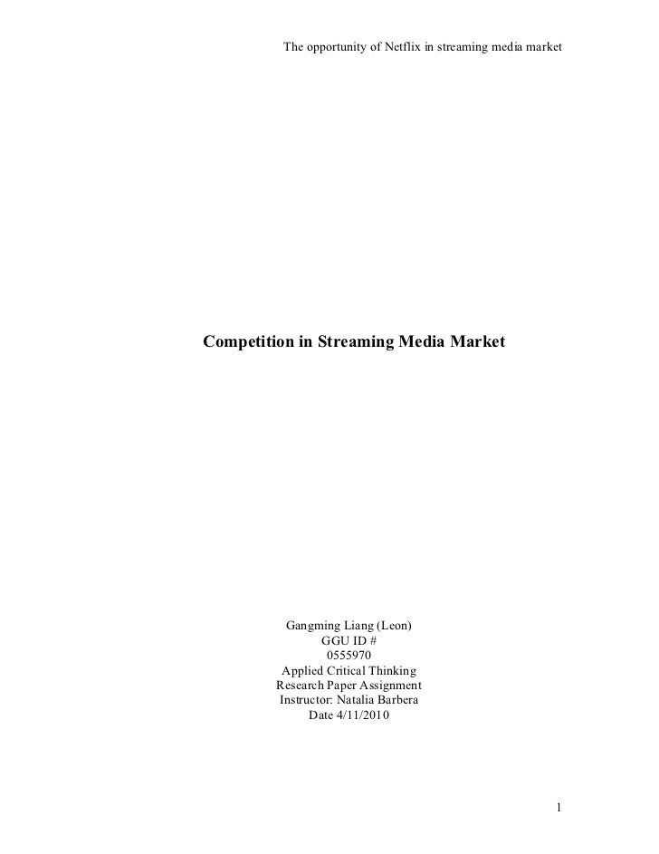 Competition in streaming media market
