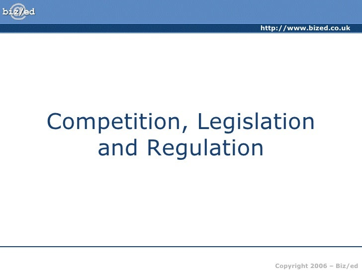 IGCSE & Unit 3 - Competition Policy