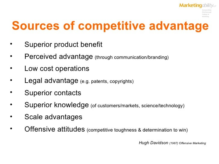 an introduction to the competitive advantage in the international market Free competitive advantage social obligations and competitive advantage - introduction globalization is the competitive business market in a competitive.