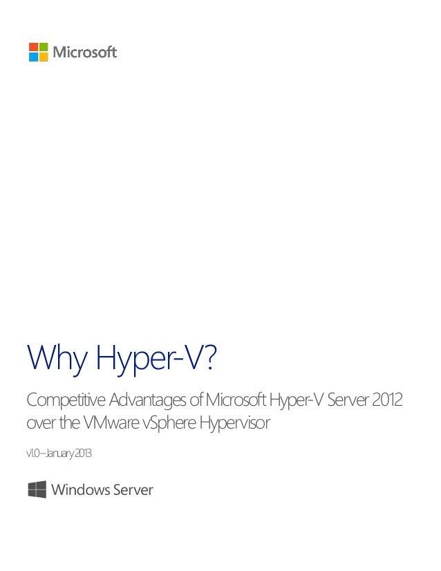 Competitive advantages-of-hyper-v-server-2012-over-v mware-v-sphere-hypervisor