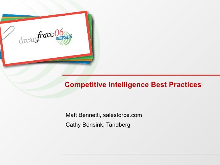 Competitive Intelligence Best Practices