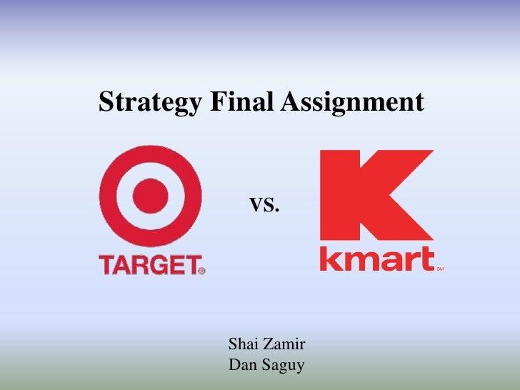 Strategy Final Assignment           VS.         Shai Zamir         Dan Saguy