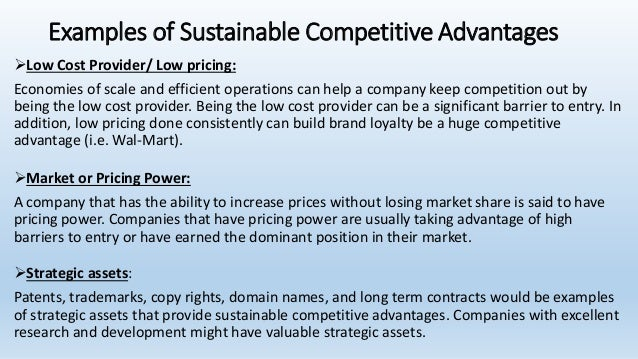 competitive advantage is it sustainable or Sustaining a competitive advantage is a challenge in a fast-changing industry roi is the key factor to gaining an advantage.