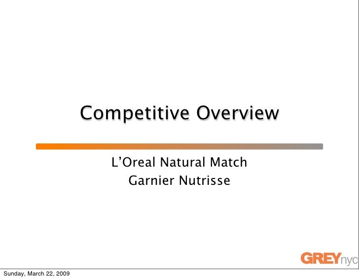 Competitive Overview                              L'Oreal Natural Match                                Garnier Nutrisse   ...
