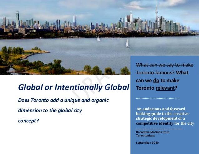 Competitive identity,Toronto