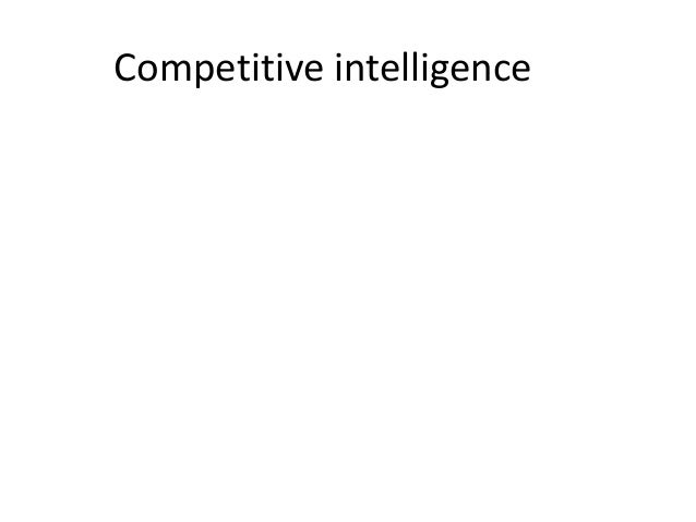 Competitive intelligence final