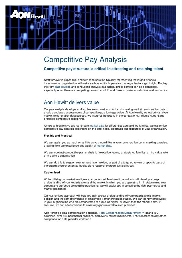 Competitive Pay AnalysisCompetitive pay structure is critical in attracting and retaining talentStaff turnover is expensiv...